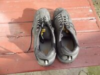 mens black trainers size 9 steel toecap in excl cond as new.