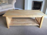 Coffee table with under shelf