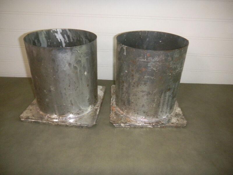 "2 Vintage CANDLE MAKING Molds TUBE 6"" x 6 1/2"" long Tin Metal"