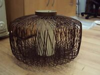 Wicker drum 45cm large lampshade