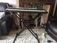 YPT 200 Yamaha electric keyboard and stand