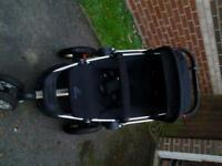 Quinny buzz pushchair for sale. used but good condition £80, includes foot muff
