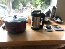 Morphy Richards Slow Cooker, Soup Maker, Samsung TV, Salter Scales and more