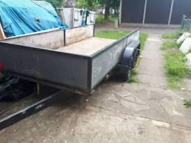 12ft trailer twin axel full metal frame
