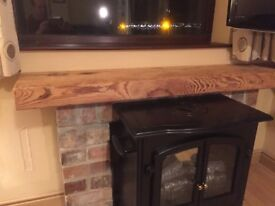 beam mantle CAN CUT TO EXACT SIZE oak and pitch pine fabulous stove fireplace kitchen hearth