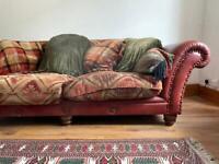 Tetrad Eastwood Buffalo Leather Sofa and Footstool
