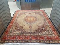 Superfine Quality Wool & silkinlaid Hand Woven Persian Moud Rug 380x300 cm
