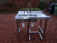 Commercial *Stainless steel double sink*