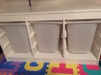 Ikea white toy storage