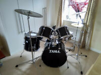 TAMA Rockstar drum kit, inc pedals, cymbals, cymbal stands and sticks