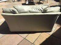 Two Italian Leather Sofas