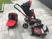 Jane Trider travel system with car seat/bassinet, stroller, isofix platform