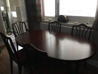 William Lawrence Mahogany Dining Table & Chairs