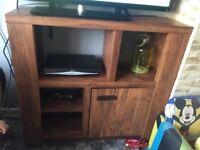 Dark oak effect tv sattalite cabinet