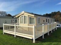 Luxury Static Caravan For Sale in Borth, Mid Wales. 3 Bedrooms/8 Berth, Decking, 12 Month Season
