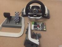 Wireless Steering wheel for XBOX360