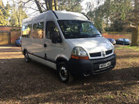 RENAULT MASTER 8 SEATER WHEELCHAIR ACCESS TAIL LIFT MINIBUS