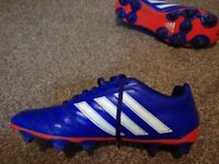 Adidas Football Boots Size 10.5 (Moulded Studs) (Blue and red) ONLY USED ONCE!