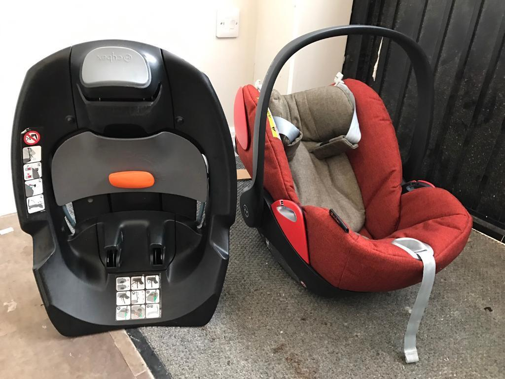 cybex cloud q reclining car seat autumn gold isofix base in stonehouse gloucestershire. Black Bedroom Furniture Sets. Home Design Ideas