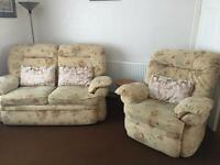 Two sofas and armchair