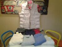 "LADIES SIZE 16 .. ""M&S"" BODYWARMER AND 8 JUMPERS .. 4 ARE NEW+UNWORN"