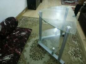Beautiful hardly used TV Glass table