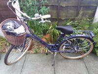 """Ladies Bicycle - Viking Kensington Ladies Bike - Midnight Blue - Frame 18"""" - Used TWICE!"""