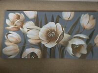 Ikea canvas with large flowers for sale.