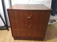 Mahogany chest of 3 drawers