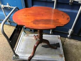 Vintage mahogany tilt top side table with FREE DELIVERY PLYMOUTH AREA