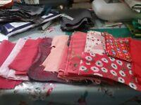 Fabric bundle reds and pinks