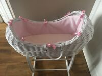 Clair de Lune moses basket (noah crib) with stand