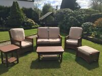 High quality conservatory set, sofa, chairs, tables etc
