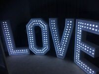 4ft love letters for hire Scotland , chocolate fountain hire