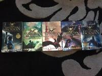 5 x Percy Jackson books