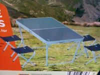 Camping Table With 4 Stools Brand New
