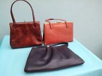 Job Lot of Three Vintage Handbags - Ideal Props for the 2018 Goodwood Revival