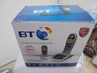bt 4500 twin big button set of cordless phones with answer machine and instructionas good used item.
