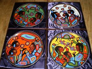 """Norval Morrisseau Plates """"Children of Mother Earth"""" 1983"""