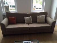 BARGAIN Quality Solid Wood Based John Lewis 3 Seat Sofa - originally +£1000 rarely used