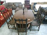 Stunning ercol period dining table and chair set for 195