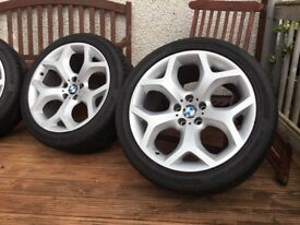 """Genuine 20"""" BMW Alloy wheels & tyres. Wheels are immaculate."""