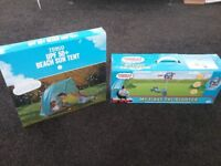 Thomas tank scooter & tent £22