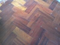 Reclaimed parquet hardwood flooring - nearly 50m2