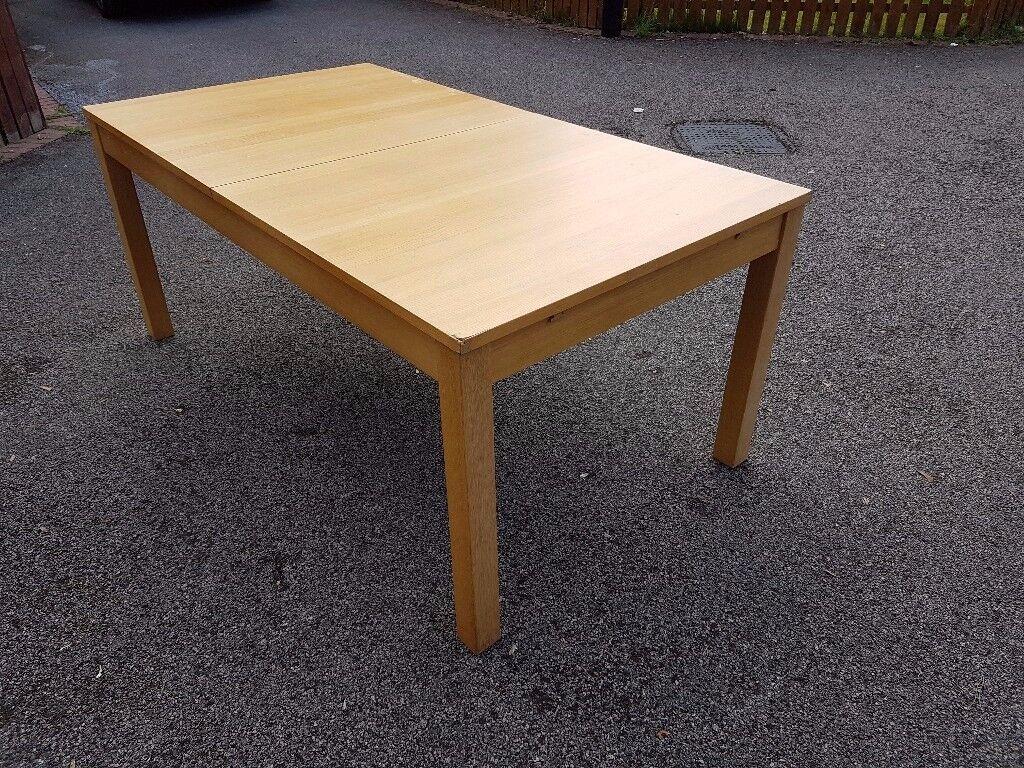 Ikea Oak Veneer Extending Table FREE DELIVERY 019