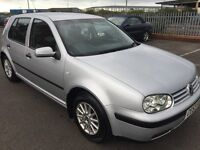 03 VOLKSWAGEN GOLF SE 1.6 LITRE PETROL TWO PREVIOUS OWNERS SERVICE HISTORY MOT TILL 27/1/17 NO ADV