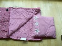 CHILD'S PINK SLEEPING BAG BY COX & COX