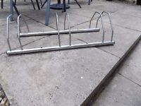 cycle push bike stand rack for 3 bikes used sturdy fixes to floor