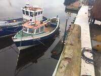 Coble fishing boat