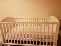 COTBED WITH MATTRESS IN GOOD CONDITION BOUGHT FROM BABIES R US